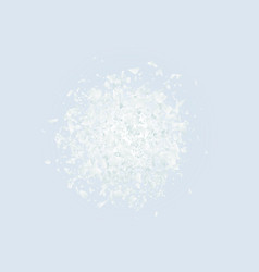 abstract explosion cloud of white pieces on light vector image