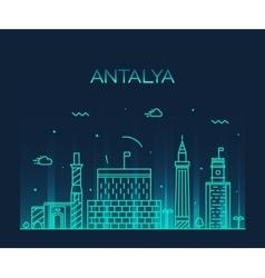 Antalya skyline linear style vector image
