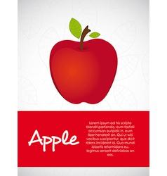 apple leaf background vector image