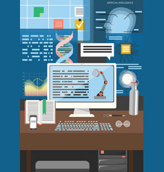 artificial intelligence technology poster vector image