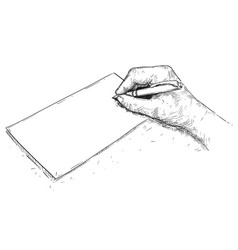 Artistic drawing hand writing on paper vector