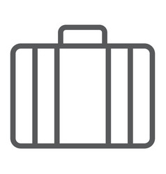 baggage line icon briedfcase and luggage vector image
