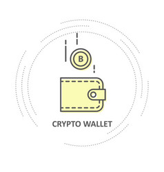 bitcoin drop into wallet - crypto wallet simple vector image