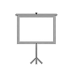 Blank projection screen black dotted icon vector