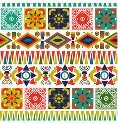Bohemian folk abstract patchwork seamless pattern vector