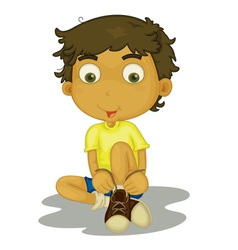 Boy sitting vector image