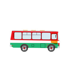Bus side view on an isolated background vector