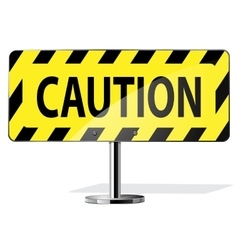 caution road sign vector image