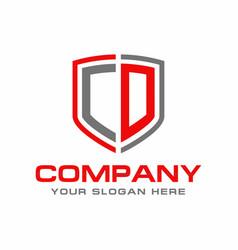 cd logo vector image
