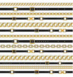 chains and belts on white vector image