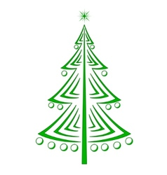 Christmas firtree pictogram vector