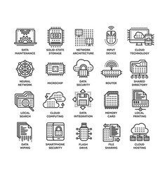 cloud computing internet technology online vector image