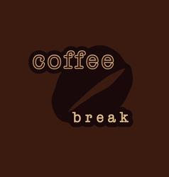 Coffee bean sign vector