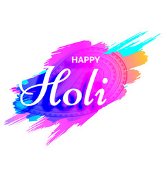 creative holi design with colors splash vector image