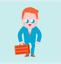 Cute boss isolated funny businessman cartoon vector