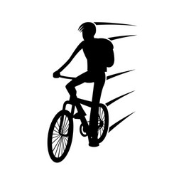 cyclist on bike vector image