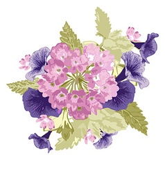 Decorative floral bouquet vector