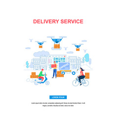 delivery service vertical banner with copy space vector image
