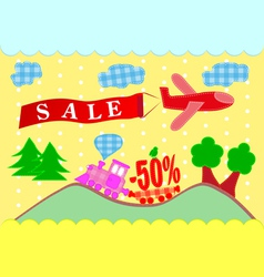 Discounts banner sales vector image
