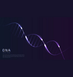 dna code abstract background glowing lines in vector image