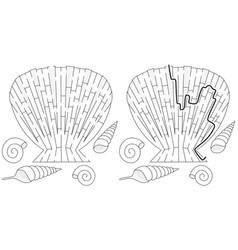 Easy shell maze vector