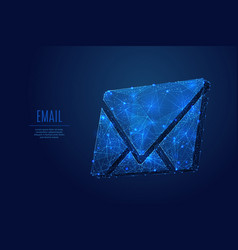 email low poly blue vector image