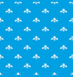 Eureka idea pattern seamless blue vector