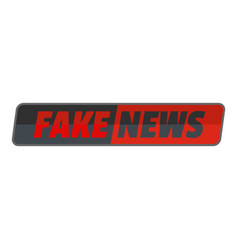 Fake news icon flat style vector