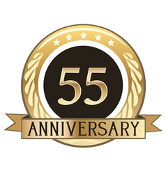Fifty Five Year Anniversary Badge vector image