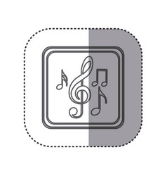 Figure emblem musical notes vector