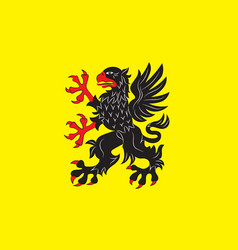 flag of sodermanland is a historical province of vector image