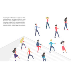 flat minimalistic concept with vector image