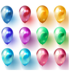 Glossy realistic 3d balloons vector