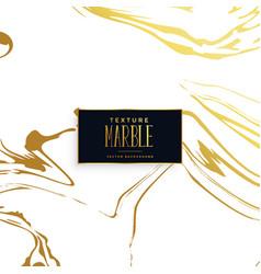 golden marble texture effect background vector image