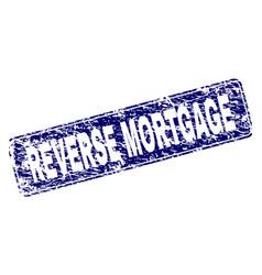 Grunge reverse mortgage framed rounded rectangle vector