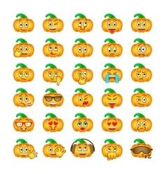 Halloween pumpkin emoji emoticons vector