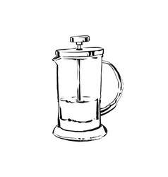 Hand drawn abstract artistic cooking ink vector