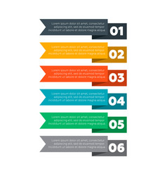 infographics elements six steps process vector image
