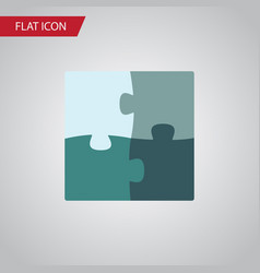 Isolated puzzle flat icon jigsaw element vector
