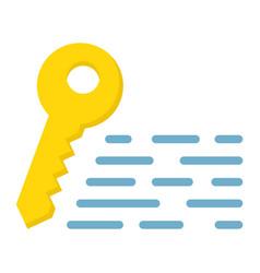 Keywords flat icon seo and development vector