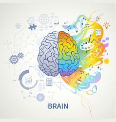 Left right brain concept vector