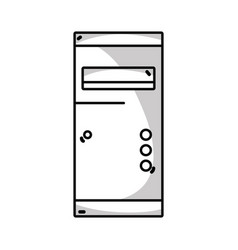 Line technology hard drive electronic element vector