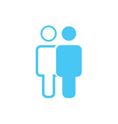linear and flat man an woman icon simple flat vector image