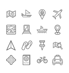 map signal icons eps10 vector image