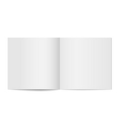 mockup of booklet cover isolated vector image