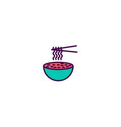 noodles icon design gastronomy icon design vector image