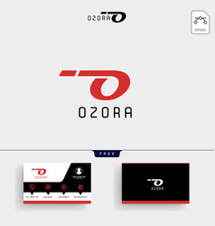 O letter minimal logo template and business card vector