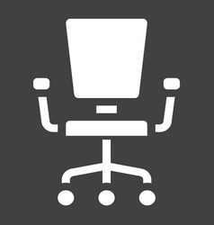 Office chair solid icon furniture and interior vector