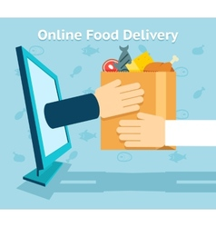Online food delivery vector image