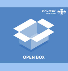 open box icon isometric template vector image